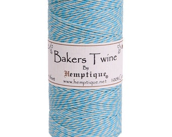 5 Meters Hemptique Bakers Twine in Blue Moon 2ply Twine Crafting Supplies Decorations Gift Wrapping Card Making