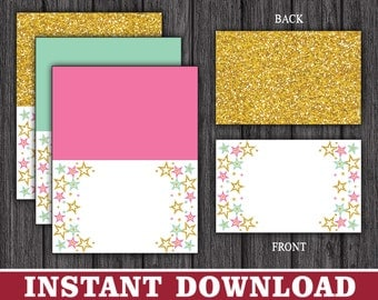 Twinkle Twinkle Little Star Tent Cards - Buffet Cards - Food Labels - Place Cards - Printable Digital File - INSTANT DOWNLOAD