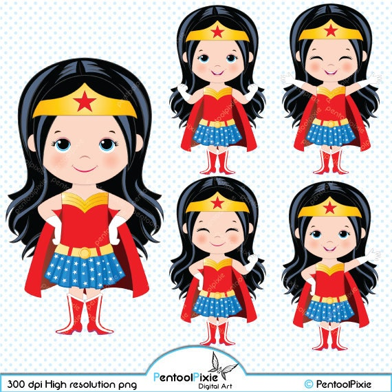 Clip Art Wonder Woman Clipart wonder woman clipart etsy superhero girls girl power supergirls cute super hero clipart