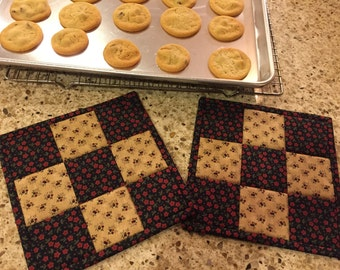 Quilted Potholders / Hot Pads / Item # 1202