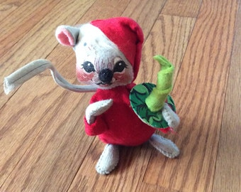 Vintage Annalee Christmas mouse Doll