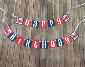 Crab Themed Happy birthday