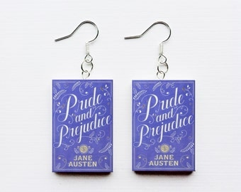 Pride and Prejudice mini book earrings