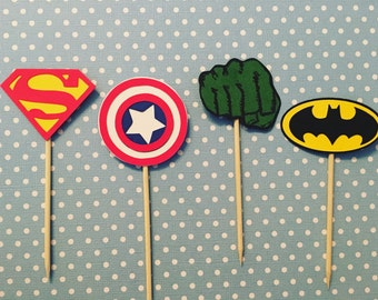 Superhero Cupcake Toppers