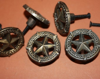 10 pulls lone star drawer pull free shipping rustic for Star cabinet pulls