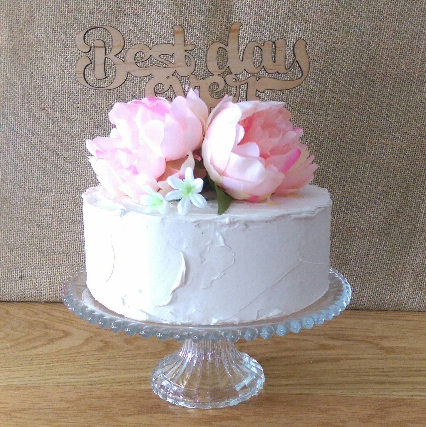 Rustic Cake topper Best Day Ever Wedding Cake by