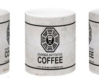 Lost inspired Dharma coffee can sublimation file for coffee mugs.