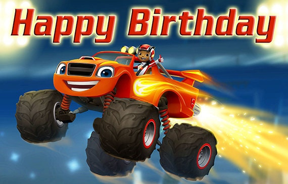 Blaze And The Monster Machines Birthday Banner