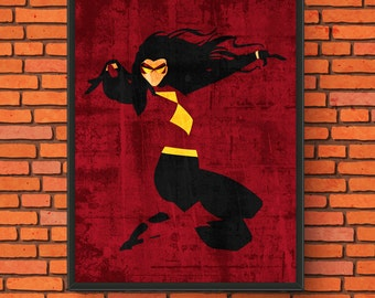 Minimalism Art - Spider-Woman Print