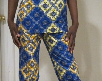 African pants and top outfit