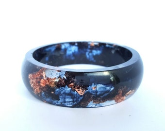 Eco resin and copper leaf bangle