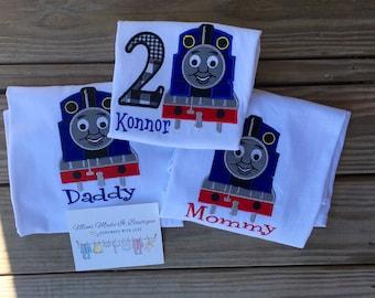 Thomas the Train birthday shirts!