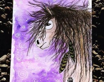 BE WILD watercolor/Ink