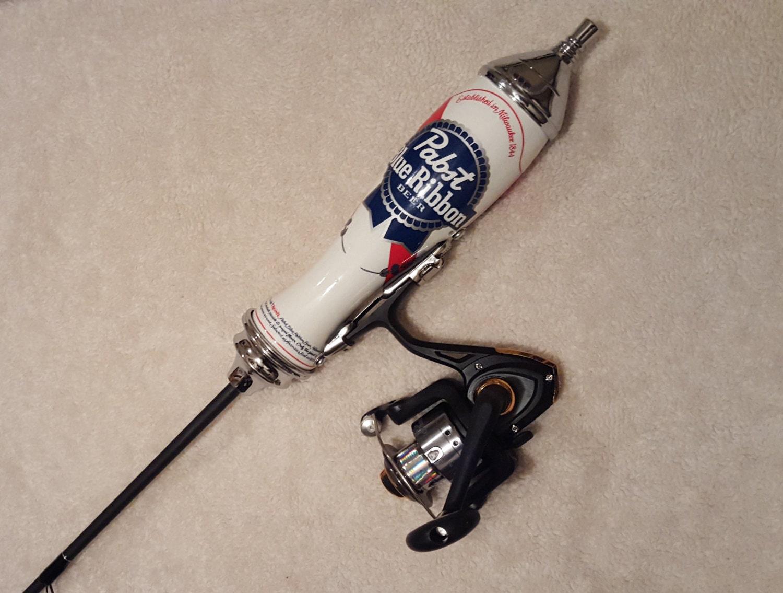 Pabst blue ribbon fishing pole for Blue fishing rod
