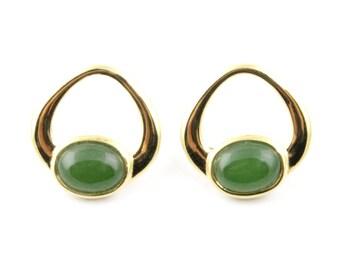 Canadian Nephrite Jade Earrings, E0766