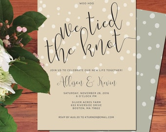 We Tied the Knot Elopement Announcement Wedding Announcement Elopement ...