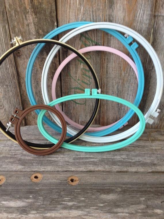 Vintage plastic embroidery hoops set of sewing hoop