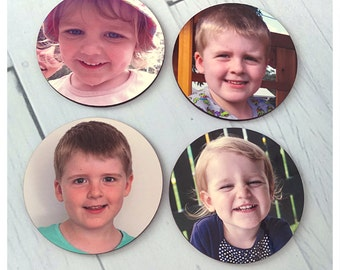 Personalised cork backed wooden coaster set of 4 - featuring your photos!
