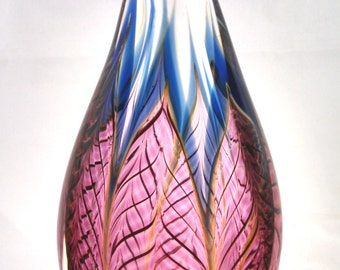 Zellique Art Glass vase
