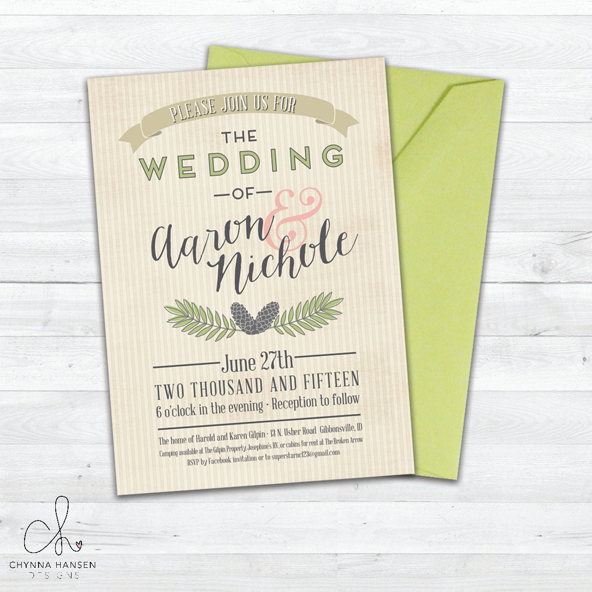 Outdoor Wedding Invitation Wording: Rustic Wedding Invitation Outdoor Wedding Country Wedding