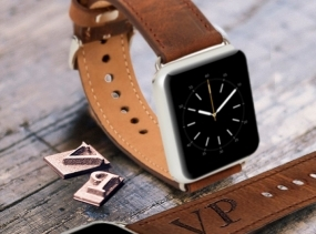 Mens Gift Wedding gift Groomsmen Gift for Mens Watch Band Personalized Boyfriend Gift Wearable Tech Leather Men Watch Band Apple Watch Strap