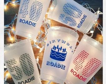 Birthday Roadie Cup pack of ten