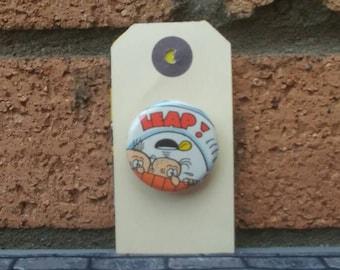 Vintage Comic Badge - Leap!