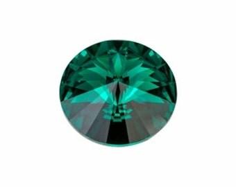 SWAROVSKI 1122 14mm Rivoli - Emerald