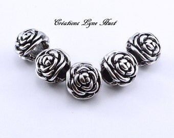 Charm beads flower motifs for your European Bracelet !