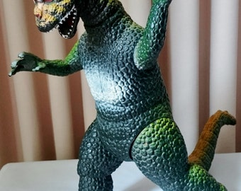 """Vintage Large Godzilla Pose-able Figure """"Dor mei"""" Made In China 1986 14"""" Tall"""