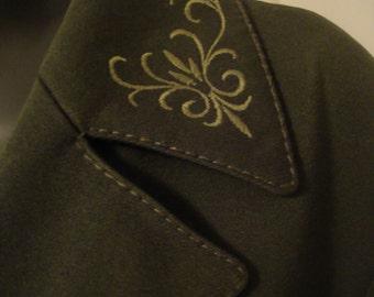 Vintage Trachten Wool Jacket Medium