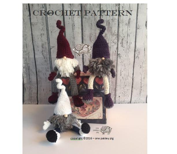 CROCHET PATTERN Scandinavian Christmas Gnome Tomte Nisse