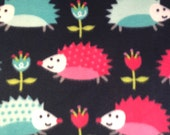 Double Critter Nation/Ferret Nation Fleece Pan Liner Set with Burrow Pocket - Happy Hedgehogs