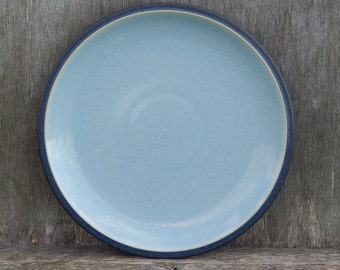 Vintage Denby Blue Jetty Light Blue Plate Stoneware Dinner Plate M