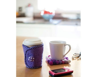 Coffee Cosy and Coasters Sewing Pattern Download 803403
