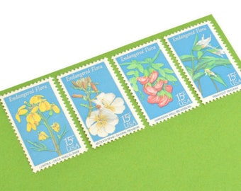 25 Endangered Flora Stamps - 15 cents - Vintage Postage 1979 - Unused - Quantity of 25