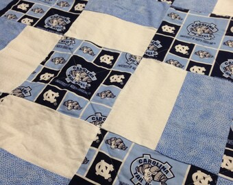 Handmade UNC Tarheels Quilt