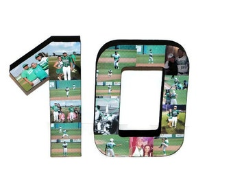 3D Jersey Number Photo Collage Two Digit Birthday Anniversary Party Senior Night  Graduation Football, Soccer, Baseball, Basket Ball