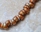 Chalk Apricot 5 x 10 mm Large Hole Nano Beads (25)