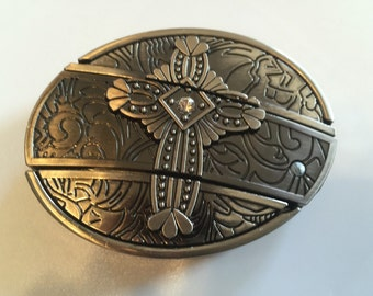 Cross Belt Buckle with Knife included