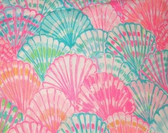 """18"""" x 18"""" or 1 YARD Lilly Pulitzer Fabric Oh Shello Resort 2015"""