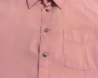 Vintage Christian Dior Men's Monsieur Short Sleeve Dress Shirt