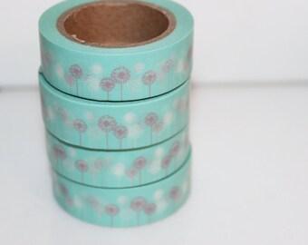 Masking tape dandelion