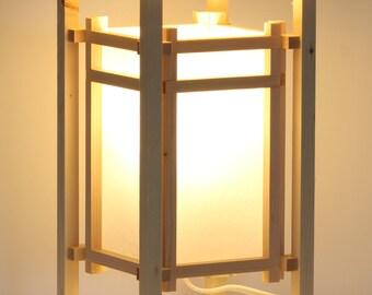 Japanese style Shoji lantern table lamp