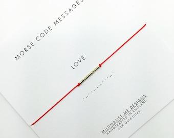 LOVE -Morse Code Bracelet