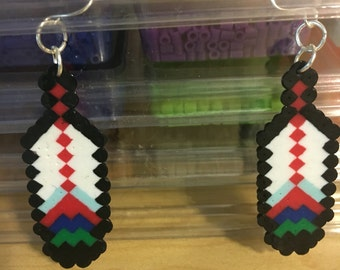 8bit feather earrings