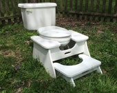 Nesting Poop Stoop Set - High Poop Stoop Full-Squat Stool and Low Platform Poop Stoop Foot Stool