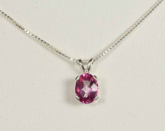 Sterling Silver Pink Topaz Pendant