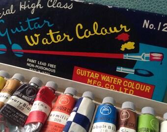 Vintage Guitar watercolor paint set