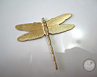 Raw Brass Stamped Dragonfly Brass Dragonflies Stamped Findings Brass Stamping Dragonflies Dragonfly Pendant 50x38mm (1 pc) 18V7